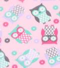 Blizzard Fleece Fabric 59\u0027\u0027-Sassy Owls