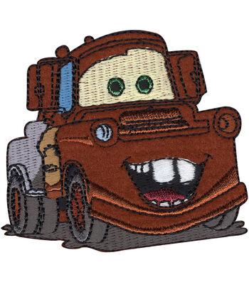 "Disney Cars Iron On Applique-Mater 3""X2-3/4"" 1/Pkg"