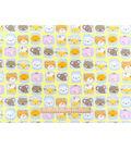 Nursery Flannel Fabric -Rhymes Animal Faces