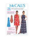 McCall\u0027s Pattern M7405 Misses\u0027 Gathered-Neckline Dresses with Ties/Belt