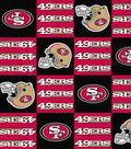 San Francisco 49ers Fleece Fabric -Block