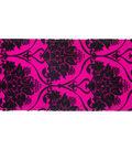 Cascade Toile Satin Ribbon 2.5\u0022x15 yds-Flocked Pattern on Begonia