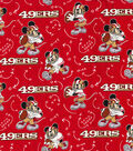 San Francisco 49ers Cotton Fabric-Mickey