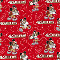 San Francisco 49ers Cotton Fabric-Mickey Mouses