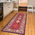 Ruggable Washable 2.5x7\u0027 Runner Rug-Noor Ruby