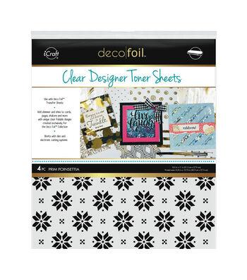 """Deco Foil Clear Toner Sheets 8.5""""X11"""" 4/Pkg-Prim Poinsettia"""