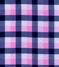 Snuggle Flannel Fabric-Purple & Navy Tri Buffalo Checks