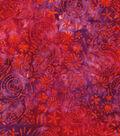 Legacy Studio Batik Cotton Fabric 43\u0022-Orange Pink Floral