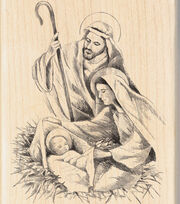 Inkadinkado 2.75''x4'' Wood Mounted Rubber Stamp-Nativity, , hi-res
