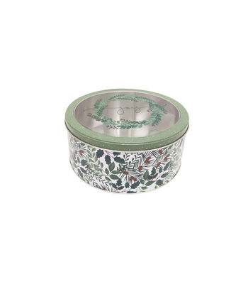 Maker's Holiday Large Round Cookie Container with Clear Top-Joy
