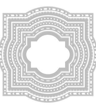 Sizzix Framelits Die & Stamp By C. Chilson & K. Lizardi-Layered Label