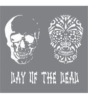 DecoArt Andy Skinner Mixed Media 8''x8'' Stencil-Day of the Dead, , hi-res