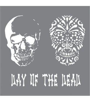 DecoArt Andy Skinner Mixed Media 8''x8'' Stencil-Day of the Dead