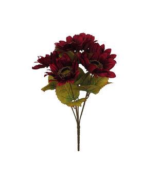 Blooming Autumn 16'' Sunflower Bush-Dark Red