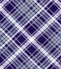Snuggle Flannel Fabric -Kate Purple & Gray Plaid