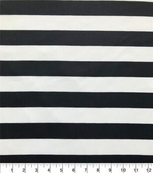 The Witching Hour Costume Knit Fabric-Black White Stripe