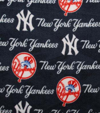 New York Yankees Fleece Fabric -Tossed