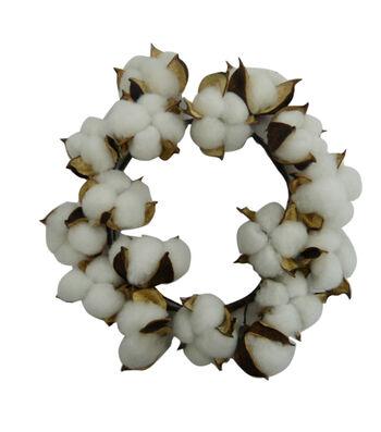 Blooming Autumn 9.85'' Cotton Shell Mini Wreath