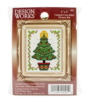 Design Works Christmas Tree Ornament Counted Cross Stitch Kit