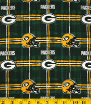 Green Bay Packers Flannel Fabric -Plaid, , hi-res