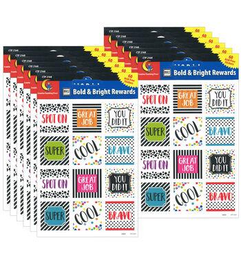 Creative Teaching Press Bold and Bright Reward Stickers 6 Packs