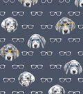 Snuggle Flannel Fabric -Hipster Pups