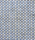 Anti-Pill Plush Fleece Fabric-Denim Geo