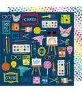 American Crafts Box of Crayons 25 pk 12\u0027\u0027x12\u0027\u0027 Cardstock-Make Something
