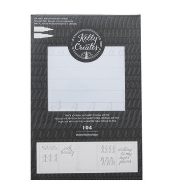Kelly Creates 104 pk Peace Journal Double-sided Review Sheets-Alphabet