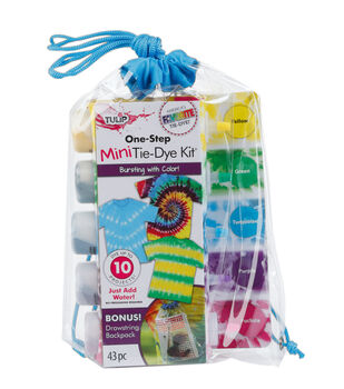 Tulip One-Step Mini Tie-Dye Kit with Drawstring Backpack