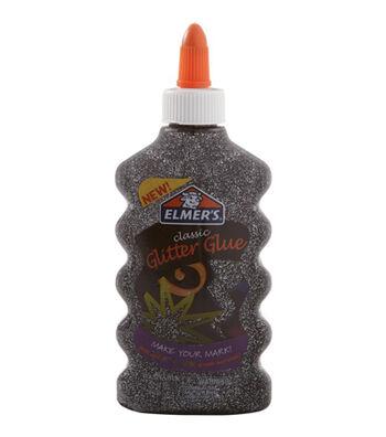Elmer's Classic 6 oz. Glitter Glue-Black