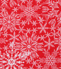 Christmas Cotton Fabric-Large Snowflakes