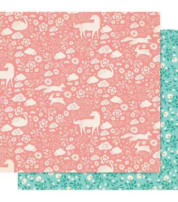 """Maggie Holmes Willow Lane Double-Sided Cardstock 12""""X12""""-Meadow"""