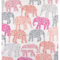 No Sew Fleece Throw-Textured Elephant