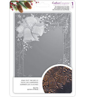 "Crafter's Companion 3D Embossing Folder 5""X7""-Ring Out The Bells"