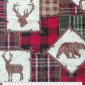 Anti-Pill Plush Fleece Fabric-Everest Sihlouette & Plaid Patch