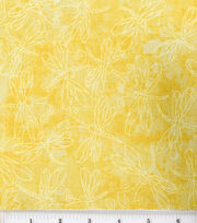 Keepsake Calico Cotton Fabric -Sundrenched Dragonfly on Yellow, , hi-res