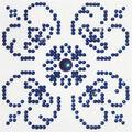Diamond Dotz Diamond Embroidery Facet Art Kit 6\u0027\u0027X6\u0027\u0027-Blue On White