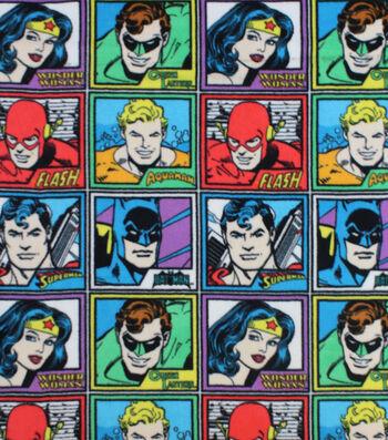 DC Comics Fleece Fabric -Meet The Heros