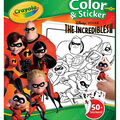 Crayola Color & Sticker Book Activity Kit-Incredibles 2