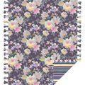 No Sew Fleece Throw-Purple Watercolor Floral