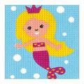 Vervaco Kits 4 Kids 6.5\u0027\u0027x5\u0027\u0027 Embroidery Kit-Mermaid
