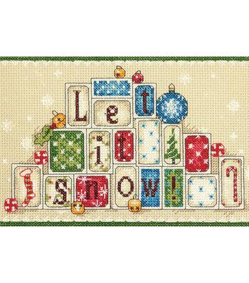 7X5 14 Ct -Let It Snow