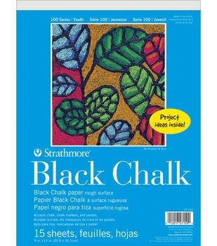 Strathmore 100 Series 15-sheet 9''x12'' Black Chalk Paper Pad