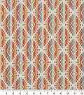 Robert Allen @ Home Upholstery Swatch 56\u0022-Twill Motif Coral