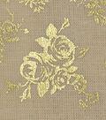 Premium Quilt Cotton Fabric-Yarn Dye White Cap Rose Metallic