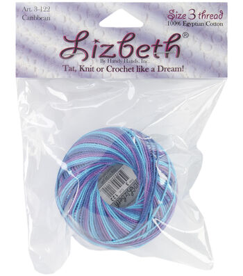 Lizbeth Cordonnet Cotton Size 3-Rainbow Taffy