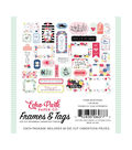 I Am Mom Cardstock Die-Cuts 33/Pkg-Frames & Tags