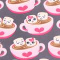 Blizzard Fleece Fabric -Happy Hot Cocoa