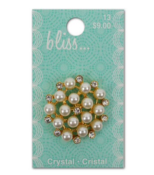 Bliss Pearl And Crystal Button